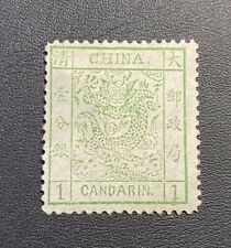 CHINA 1882 thick paper large dragon 1ca mint LH.