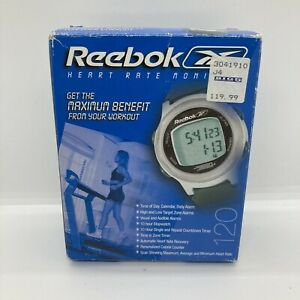 REEBOK Heart Rate Monitor & Chest Strap-Instructions 120/1200 Stopwatch/Alarms +