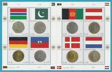 UNO Wien aus 2006 ** postfrisch Kleinbogen MiNr.477-484 - Flaggen und Münzen!