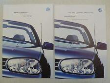 Prospekt Volkswagen VW Golf IV Cabriolet Sportline, 9.2000, 18 S. + Preisliste