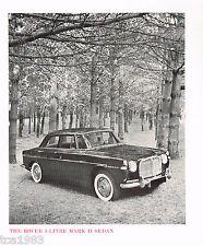 1964? 1965? ROVER 3-litre MARCA 2 II Sedan FOLLETO/Catálogo