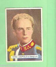 AUSTRALIAN LICORICE CARD - NOTABLE PERSON #35 of 77, KING LEOPOLD III, BELGIUM