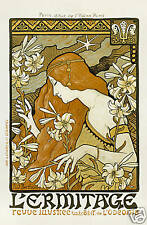 Repro Art Nouveau Style Advertising Print  'L'Ermitage' ref#1