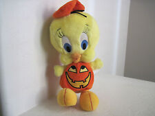 "WB Warner Bros Studio Store HALLOWEEN TWEETY BIRD 12"" PLush Stuffed Animal"
