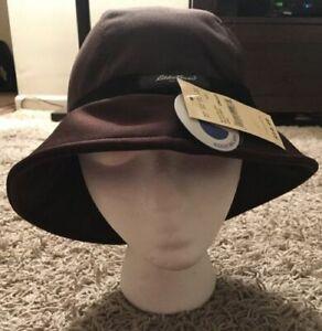 NWT Eddie Bauer Womens Brown Water Repellant Bucket Hat One Size