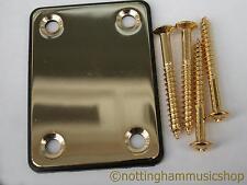 Guitarra Eléctrica Placa de cuello de acero Chapado en Oro + Cojín Negro + Tornillos ST TL