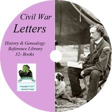Civil War LETTERS - History & Genealogy - Letters to Home - 32 Books on DVD CD