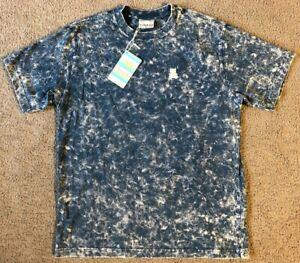 NWT Teddy Fresh Men's Marbled Blue T-Shirt - Size Medium