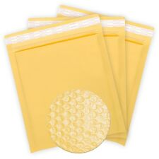 100PCS #000 4x7 Kraft Padded Bubble Shipping Mailing Self Sealing Envelopes