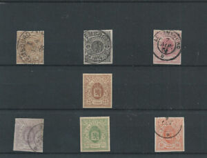 Postage Stamps Luxembourg 1859-63   - Used & 2 NH*