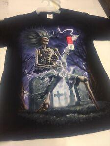 Skeleton RockerT Shirt Adult Small