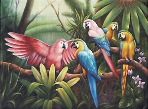 Hand painting Balinese Parrot 295