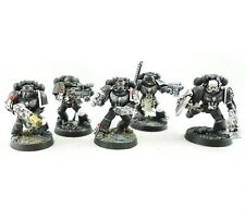 WARHAMMER 40K ARMY SPACE MARINE IRON HANDS 5 MAN SQUAD PAINTED AND BASED