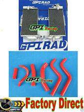 FOR Honda CR250R/CR 250 R 1988 1989 2-stroke aluminum radiator + RED hose