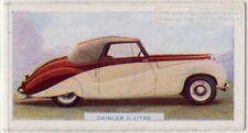 Daimler 2 1/2 Litre British Auto c70 Y/OTrade Ad Card