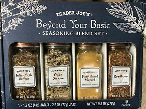 ‼️NEW‼️ Trader Joe's Beyond Your Basic Seasoning Blend Spice Set 4 Jars