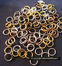 6mm split ring clasps 5 color plated finishes split ring jump rings 100pc fpc322