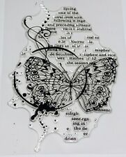 Butterfly Script Mixed Media Clear Stamps  – BNIP – FREE P & P