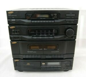 SAMSUNG SCM-8100 Compact HiFi Stereo System Twin Tape Deck Radio - CD Faulty