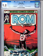 Rom: The Space Knight #43 CGC 9.8 Marvel 1983 Dr. Dredd appearance!!