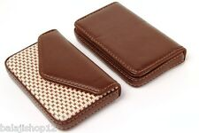 ( PACK OF 2 ) Stylish ATM Debit Credit Visiting Card holder Wallet Brown Leather
