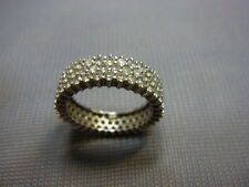 585er Weißgoldring mit Zirkonia steinen Ringgroße 51Breit 6mm Gewicht 4,55 gramm