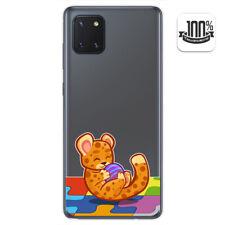 Funda Gel Transparente para Samsung Galaxy Note 10 Lite diseño Leopardo Dibujos