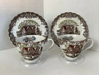 Johnson Bro. Heritage Hall Made In Staffordshire England Set Of 2 T Cup & Saucer
