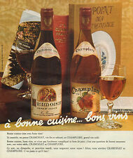 Publicité Advertising 1973  CRAMOISAY et CHAMPLURE grand vin tuilé