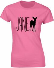 Brand88 - Jane Doe, Ladies Printed T-Shirt Casual Crew Neck Tee Top for Women's