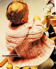 BABY HOODIE detachable / 6 -12 months - 8ply or D.K.- COPY baby knitting pattern