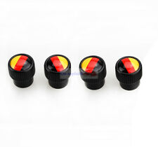 4pcs Germany Deutsches Metal Black Wheel Tire Valve Stems Caps For Audi Porsche