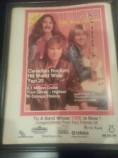 Triumph Rare 1986 Group of the Year Promo Poster Ad Framed! Printed Once!