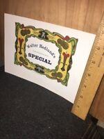 Vintage CIGAR Box Label, Walter Hedlund's Special.