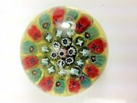 Antique Rare Strathem Scotland Company MILLEFIORI Multi Color Paperweight