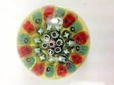 Antique Rare German Company MILLEFIORI Multi Color Paperweight