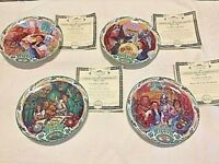 Set of 4 Wizard of OZ Musical Plates Collecter Plates