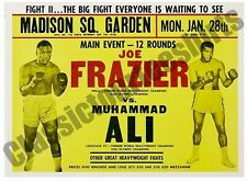 Joe Frazier vs. Muhammad Ali Madison Square Garden 1974 Reproduction