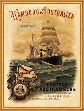Deutsch Australische Dampfschiffs Gesellschaft Australien Plakate A2 279