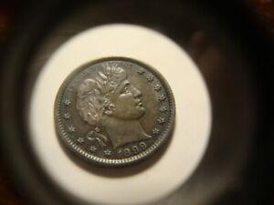 1899 BU Purple Haze Barber Liberty Quarter Dollar Sharp Coin MSX