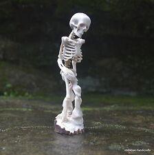 Human Skeleton Carved 133mm in Deer Antler Carving ST550 Table Decor
