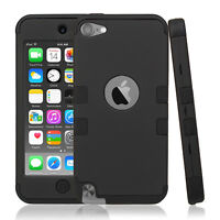 Premium Shock Absorbing Hybrid Armor Rubber Case Cover For iPod Touch 5th 6th