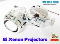 "2.5"" Car Mini Bi-xenon HID Projector Lens Angels Eye Headlight Shroud H1 H4 RHD"