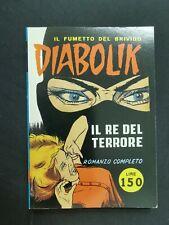 """Diabolik n. 1 """" Il re del terrore """" romanzo completo Lire 150 Spin off 1999"""