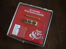 FENDER FLOYD ROSE GOLD NUT #4 & STRING RETAINER BOXED SET - MODEL 199-6814-210
