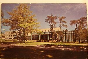 Kansas KS Manhattan KSU State University Justin Hall Home Econ School Postcard