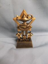 lot of 17 mini gold star lamp of knowledge trophy resin award