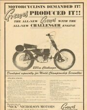 1964 Greeves 250cc Challenger Vintage Motorcycle Ad