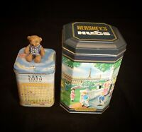Two (2) Advertising Tins | Sak's 5th Ave, Hershey's Hometown Series Canister #10