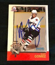 Scott Gomez Autographed 1998 Bowman Chrome Card WHL Devils USA CHL Signed #145